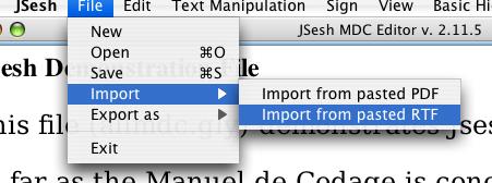 Importing RTF