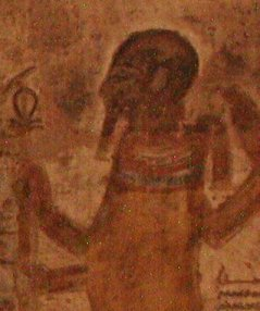 Ptah figure in Beit el Wali